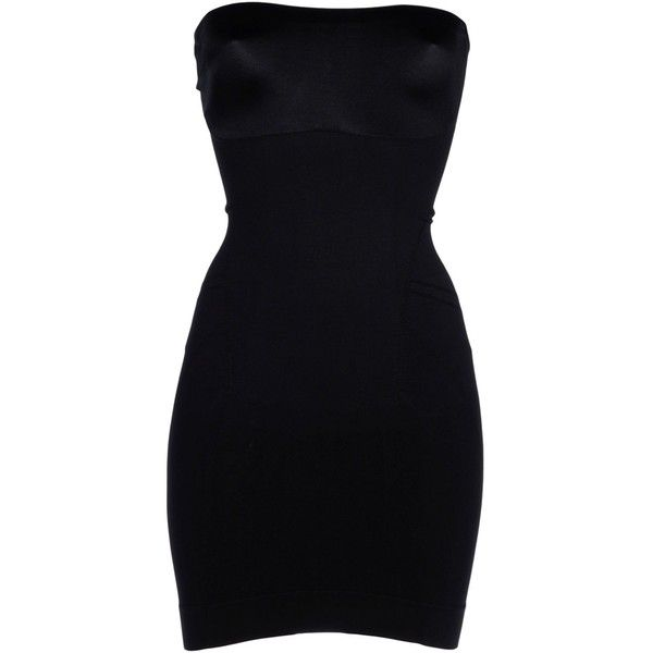 Spanx Slip (470 HRK) ❤ liked on Polyvore featuring intimates, shapewear, dresses and black