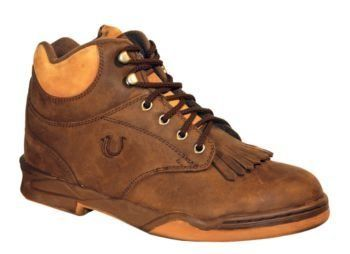 "Roper Footwear Mens Horseshoe Kiltie Shoe Brown by Aegis. $98.99. Roper(R) Men's Horseshoe Crazy Horse Kiltie From the Roper(R) Horseshoe Style Collection, comes the Crazy Horse Kiltie--part Western boot, part athletic shoe. Built with a forged steel shank and soft inner sole for support and stability, the 9/16"" heel is ideal for riding. The 3/4 ankle lends extra support for when you are in the stirrup or just on the road. Features: Removable comfort footbed Non-marking rub..."