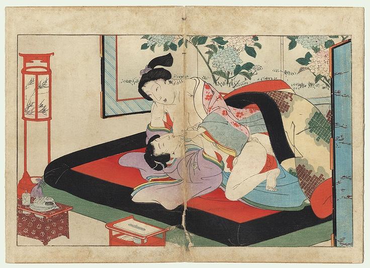 Antique Edo era Shunga print,1850s, Utagawa School