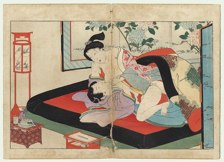 Antique Edo era Shunga print,1850s, Utagawa School