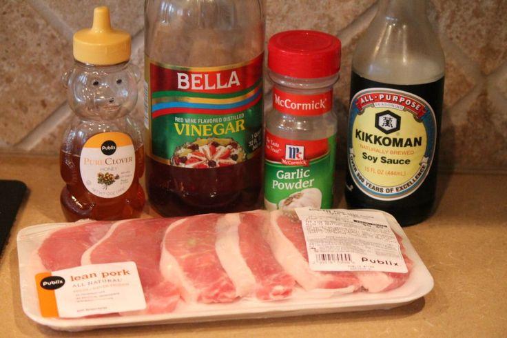5 ingredient grilled pork chop marinade