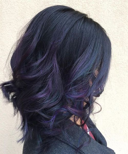 Mid Length Great Lavender Hairstyles 2017 for Women