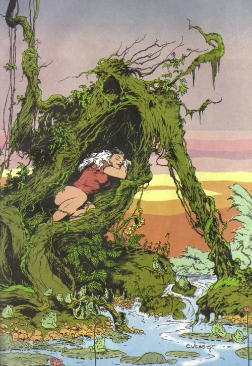 browsethestacks:  Swamp Thing by Charles Vess