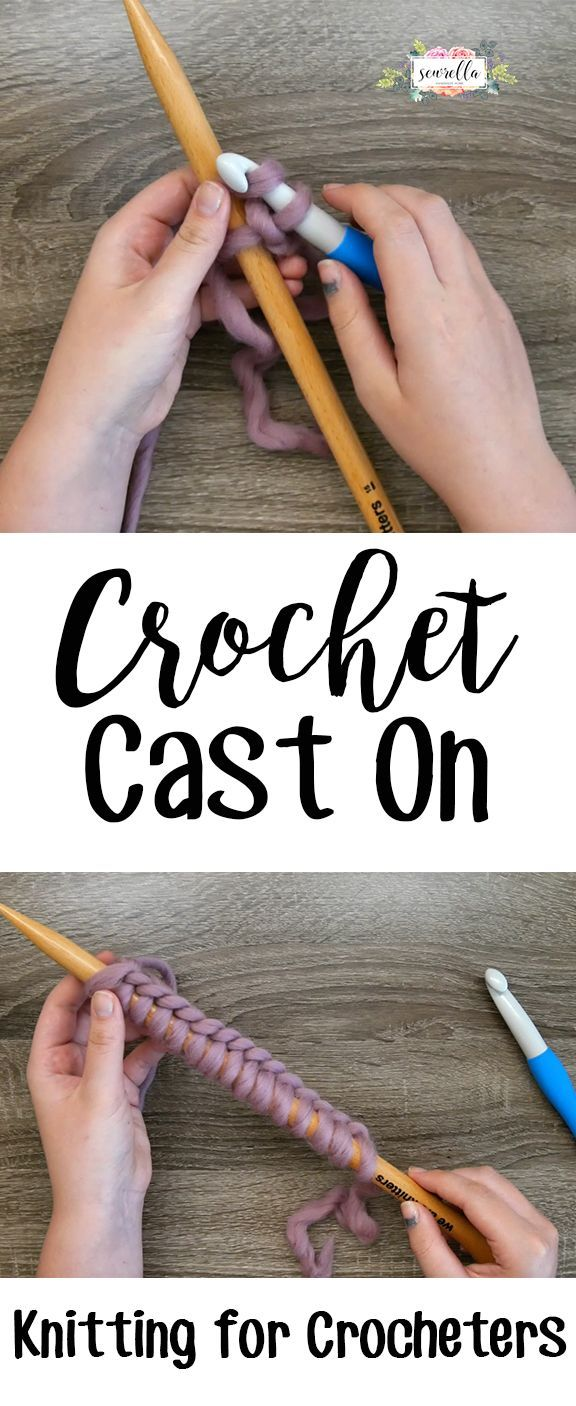 Knitting Tutorial Cast On : Learn to knit for crocheters with the crochet cast on