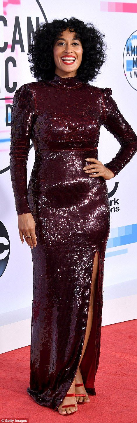 Here she is!Black-ish star Tracee Ellis Ross is hosting the ceremony with mom Diana Ross ...