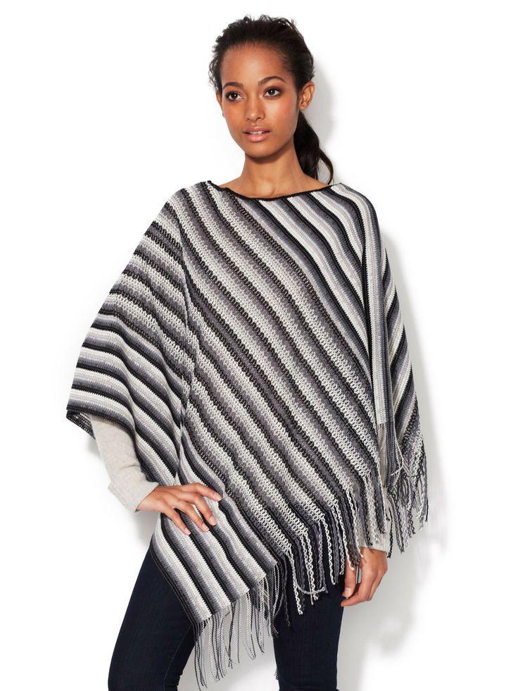 Knitting Pattern Striped Poncho : Striped Knit Poncho by Missoni=MINE my style Pinterest Knit Poncho, Str...