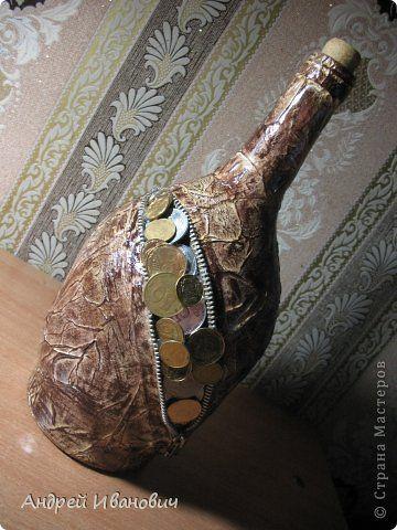 Декор предметов Моделирование конструирование Декупаж Бутылочки 1 МК Бумага Клей Краска фото 2