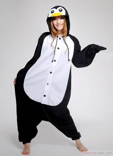 Adult onesies Emperor Penguin Kigurumi animal onesie. i want one of these for...uhhh.....halloween...yeah thats it!