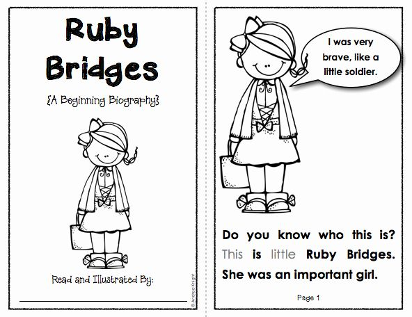 Ruby Bridges Coloring Page Luxury Beginning Biographies Student