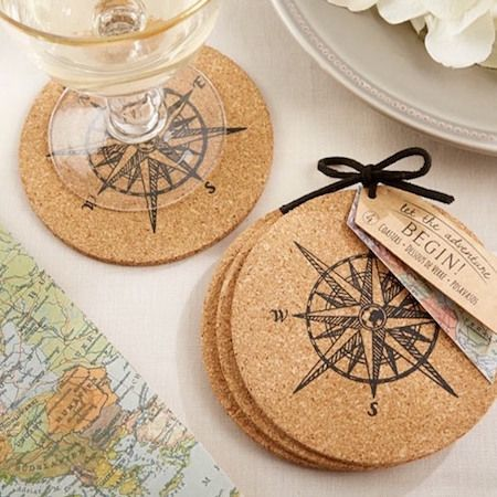 Peter Pan Wedding Theme Favors Fantastical Weddings Favors fantasticalweddings.com Compass Coasters | Beau-coup.com