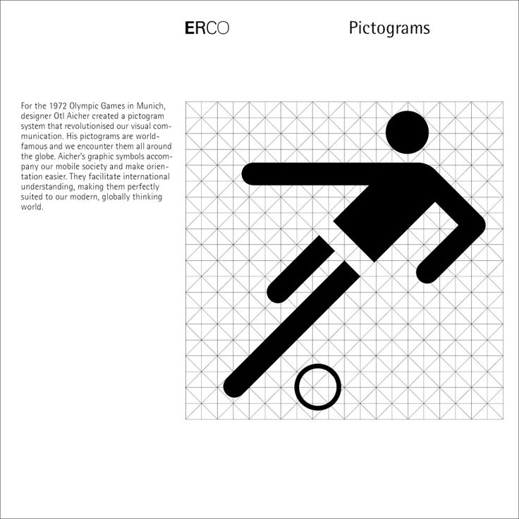 Otl Aicher - 1972 Munich Olympics pictogram grid