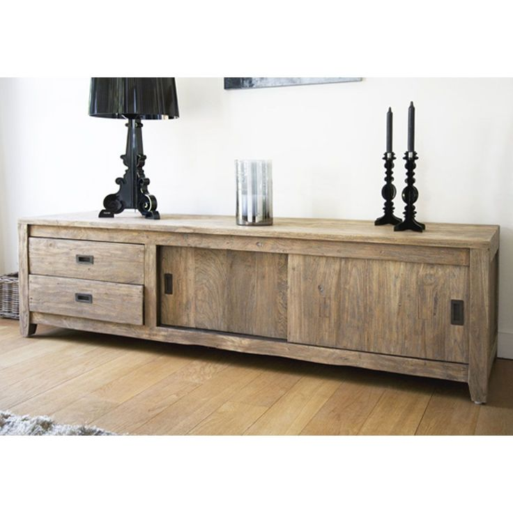 1000 ideas about meuble tv teck on pinterest tv storage - Meuble en bois recycle ...