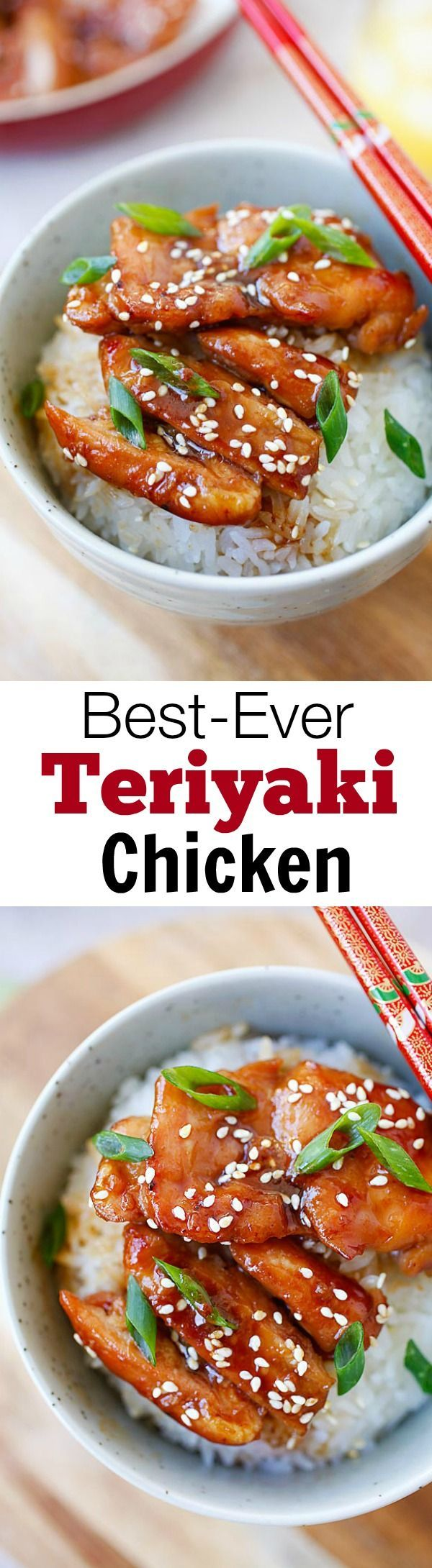 Teriyaki chicken – the most popular Japanese chicken dish. Learn how to make teriyaki chicken with this easy 30-min recipe with only four ingredients