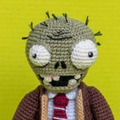 Crochet Zombie Patterns : Zombie - Plants vs. Zombies amigurumi crochet pattern by AradiyaToys