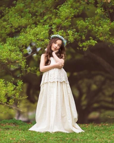 a68bfc5e397 boho ivory first communion lace dress - Belle   Kai  mycollection ...