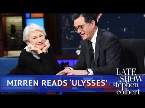 Helen Mirren Reads Poetry To An Emotional Stephen Colbert | The legendary dramatic actress indulges our host with a reading of lines from the poem 'Ulysses' by Alfred Lord Tennyson.