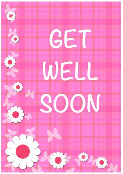 Unusual image inside free printable get well cards