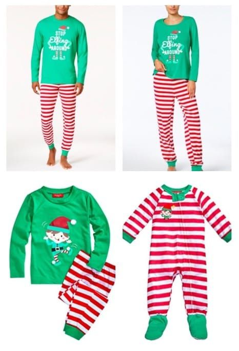 ca2e4da886 Elf Around Family Holiday Matching Pajamas