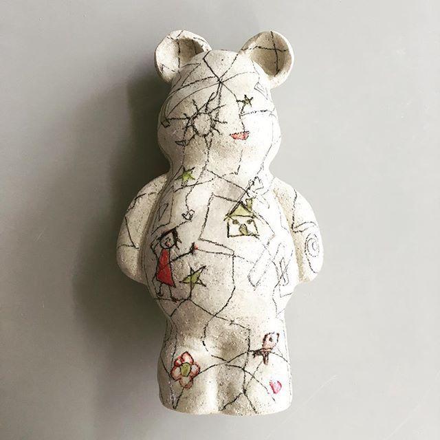 "The ""Mom, Dad: I Love myself"" Teddy Bear  #agceramica #ceramics #ceramica #ceramique #sculpture #stoneware #art #arte #design #diseño #teddybear #bear #children #childrendrawing #doodle #dibujodeniño #symbolism  #symbol  #childish #niña #niño #simbolismo #babyadult #niñointerior #innerchild  #internalchild #love #amor"
