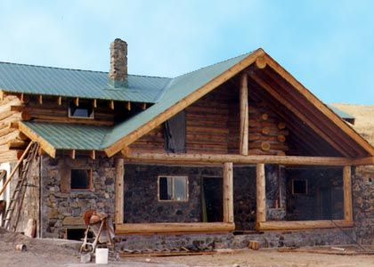 25 best ideas about stone masonry on pinterest for Butt and pass log home construction
