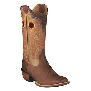 Ariat Wildstock Western Boots for Men - Weathered Brown/Quartz - 10.5W