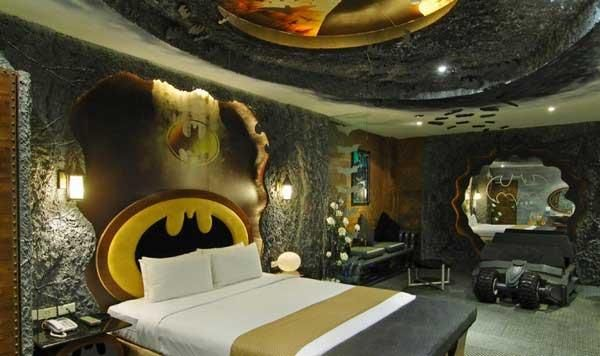 Teen Room, Bedroom Batman Theme Cool Boys Room With Smooth White Blanket Chic Pier Mirrored Headboard Ideas Beautiful Awesome Chic Boys Room Design Pretty Interesting Inspiring Cool Charming Elegant Boys: Comfortable Cool Boy Rooms With Unique And Interesting Interior