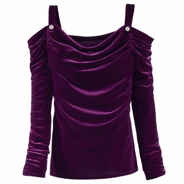 Velvet Open Shoulder Top - New Age, Spiritual Gifts, Yoga, Wicca, Gothic, Reiki, Celtic, Crystal, Tarot at Pyramid Collection