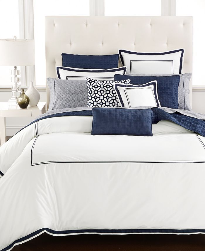 Hotel Collection Embroidered Frame Twin Comforter Created For Macy S Reviews Designer Bedding Bed Bath Macy S In 2021 Hotel Collection Bedding Macys Bedding Bed Linens Luxury