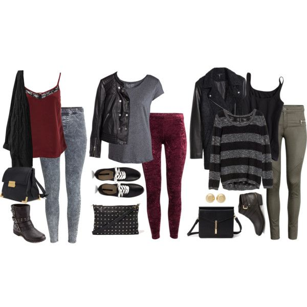 Edgy Hanna Marin inspired shopping outfits by liarsstyle on Polyvore featuring polyvore, fashion, style, H&M, Pieces, Miss Selfridge, Forever 21, Charlotte Russe, Michael Kors, shopping and WF