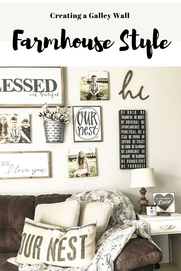 Farmhouse style galley wall, Hobby lobby signs, Rustic farmhouse living room, farmhouse living room, canvas picture