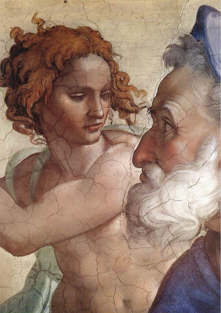 Michelangelo Buonarroti (1475-1564) ~ Sistine Chapel Ceiling ~ Seven Prophets ~ Ezekiel (detail). AT