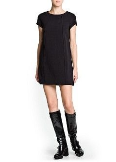MANGO - CLOTHING - Dresses - Pleat straight-fit dress
