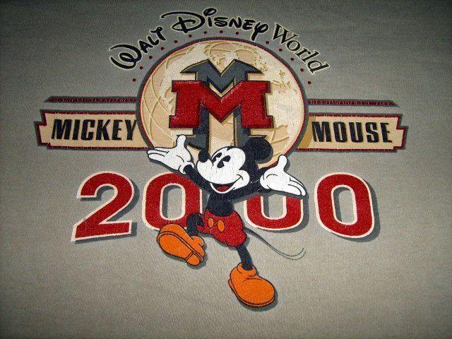 VINTAGE 2000 Walt Disney World Mickey Mouse Millenium T-Shirt Mens XL #Disney #GraphicTee