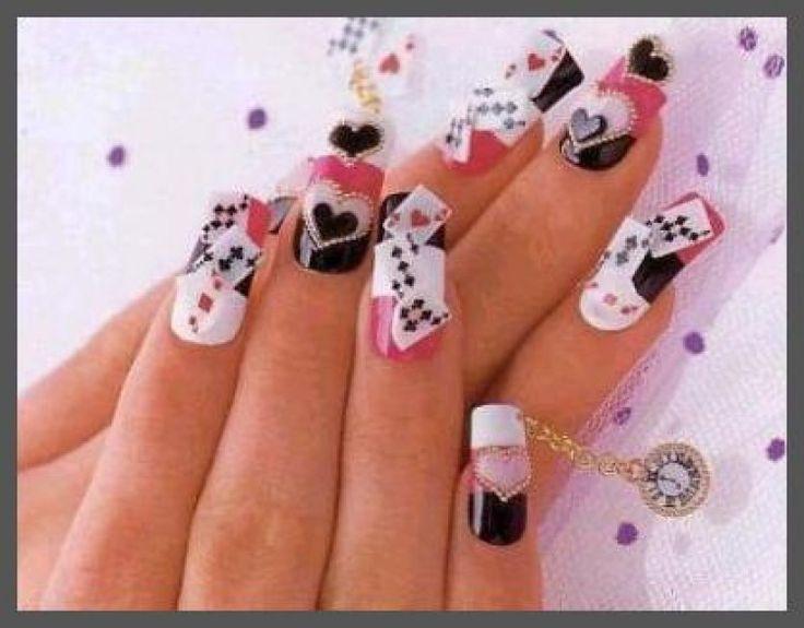 79 best las vegas casino nail art images on pinterest las card nail designs diy nailart prinsesfo Choice Image