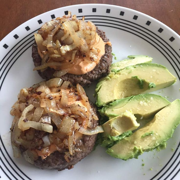 Bunless Burgers with Avocado - Keto Diet Results
