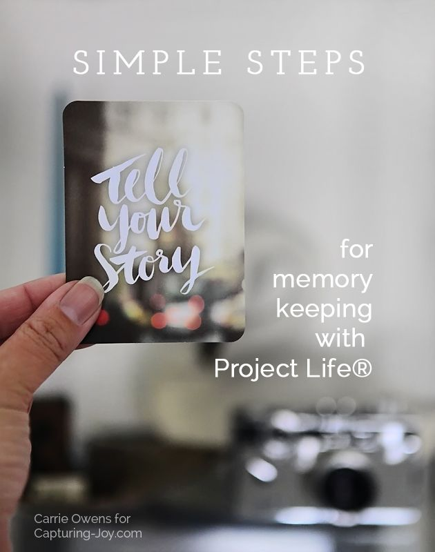 Getting started with Project Life® with tips and organizing tricks from photographer and memory keeper Carrie Owens.