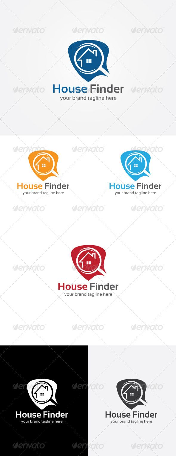 House Finder Logo — Vector EPS #flat #consulting • Available here → https://graphicriver.net/item/house-finder-logo/8172007?ref=pxcr
