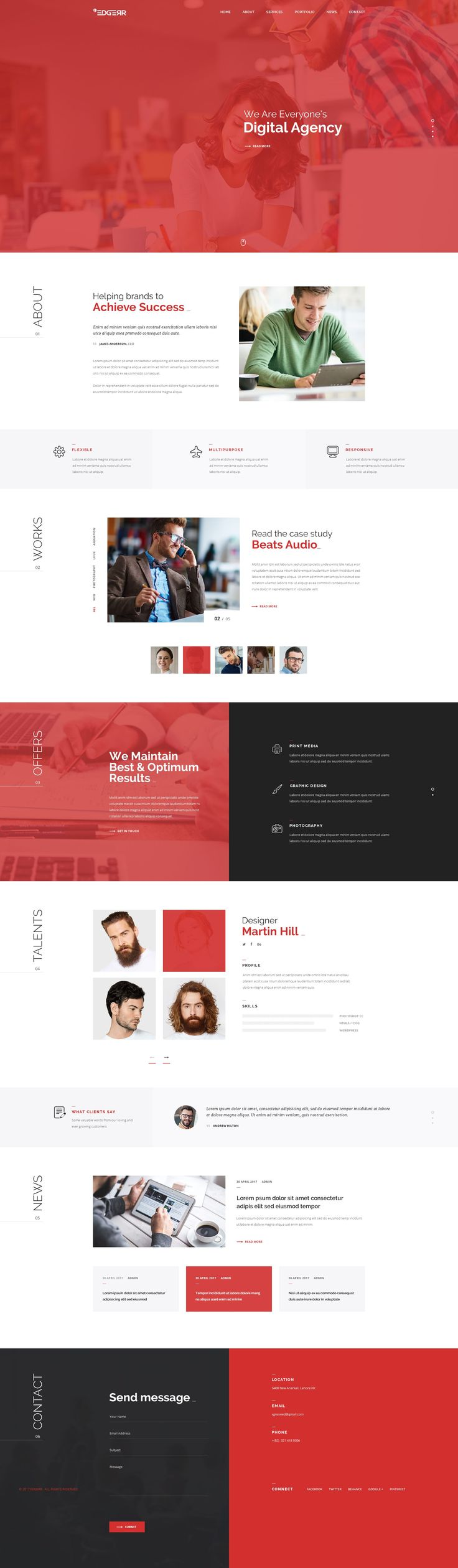 EDGERR ConsultingFinance Business Agency PSD Template