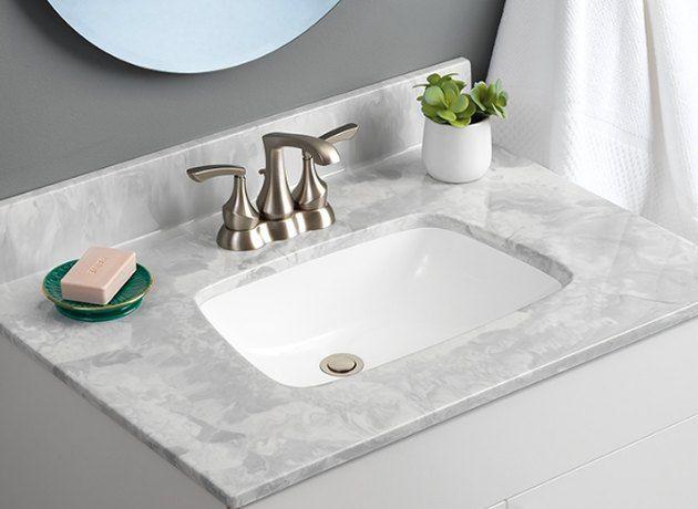 3 Cheap Bathroom Countertops Ideas For A Budget Friendly Refresh Hunker Bathroom Countertops Cheap Bathrooms Bathroom Decor Apartment Small
