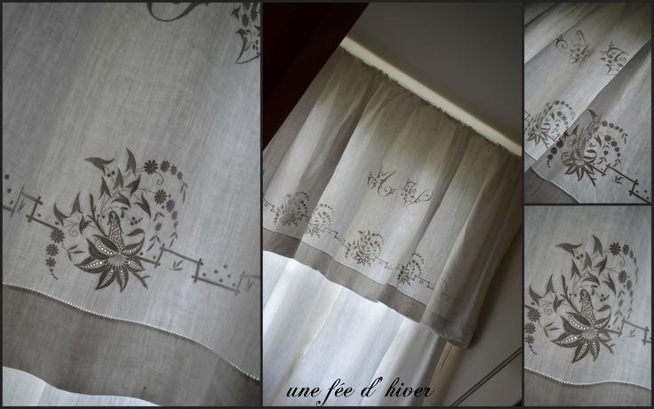 rideaux avec des draps anciens deco de charme pinterest. Black Bedroom Furniture Sets. Home Design Ideas