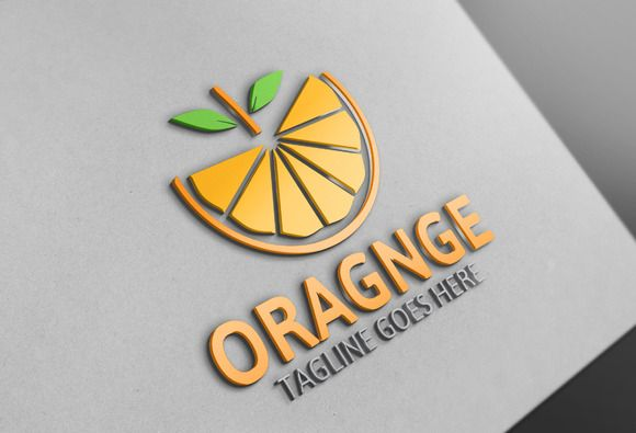 Orange Logo by Josuf Media on @creativemarket