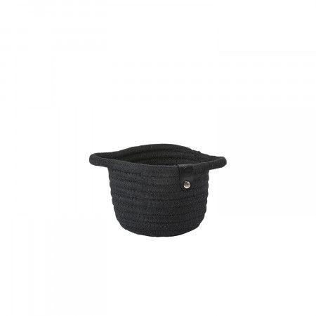 Zone Denmark – Roll Basket, Small SCHWARZ    – Black – Home Decor