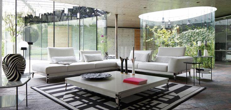 composition d 39 angle connexe roche bobois soave pro hr 35kg m3 et fibre polyester do et fibre. Black Bedroom Furniture Sets. Home Design Ideas