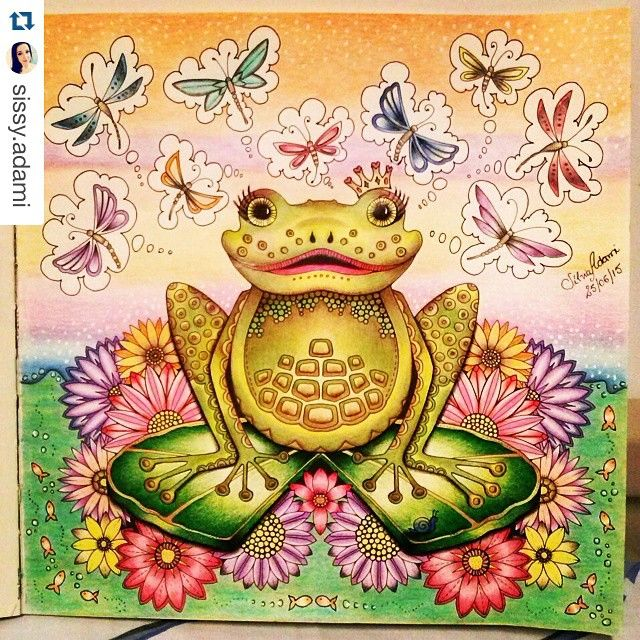 Frog From Enchanted Forest Colouring Book