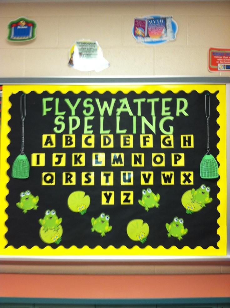 Fly Swatter Spelling Interactive Bulletin Board