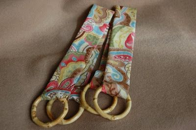 """Happy Labor Day! I'm still """"laboring"""" on using up my one yard of fabric. Now I'm making curtain tiebacks. This project is super easy but add..."""