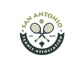 SAN ANTONIO TENNIS ASSOCIATION Logo Design | More logos http://blog.logoswish.com/category/logo-inspiration-gallery/ #logo #design #inspiration