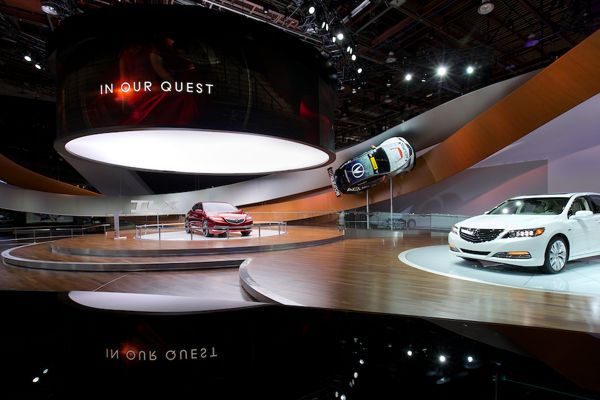 Acura Global Motor Show Stand @ Detroit Auto Show 2014 by Geoffrey Mye, via Behance