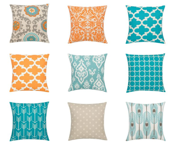 CHOICE Pillow Cover.Decorator Pillow Cover.Home Decor.Large Print.ORANGE TEAL.Cushions. Cushion.Pillow. Premier Print by lookherejane on Etsy https://www.etsy.com/listing/241895164/choice-pillow-coverdecorator-pillow