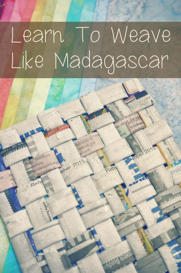 Madagascar Weaving Craft For Kids